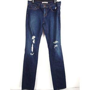 J Brand Jeans 30 Torn TKV Distressed Dark Straight